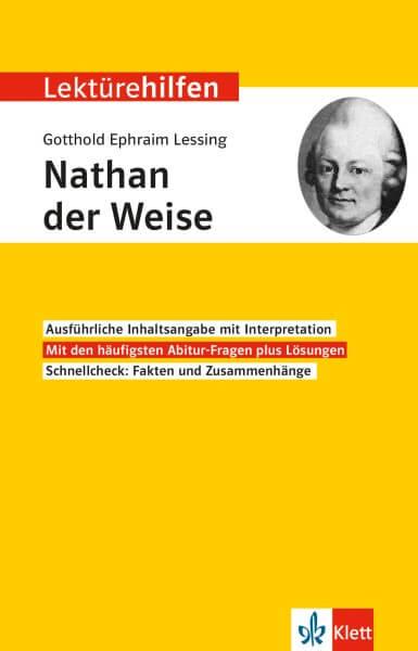 Klett Lektürehilfen Gotthold Ephraim Lessing, Nathan der Weise