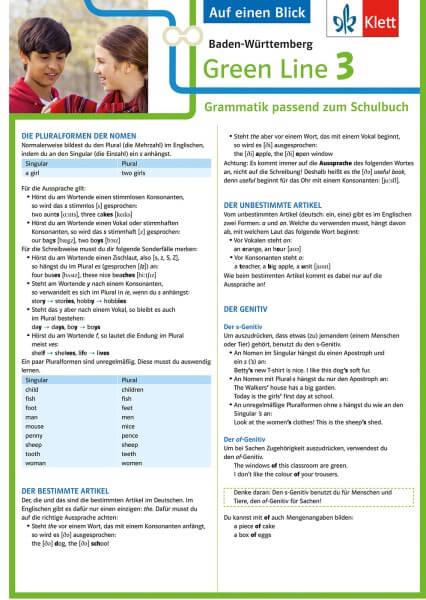 Klett Green Line 3 Baden-Württemberg Klasse 7 - Auf einen Blick