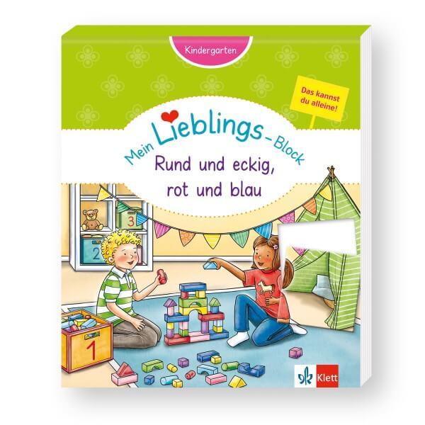 Klett Mein Lieblings-Block Rund und eckig, rot und blau