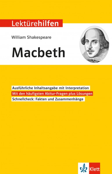 Klett Lektürehilfen William Shakespeare, Macbeth