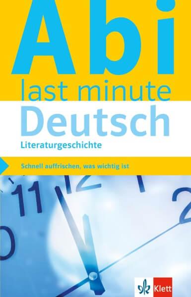 Klett Abi last minute Deutsch Literaturgeschichte