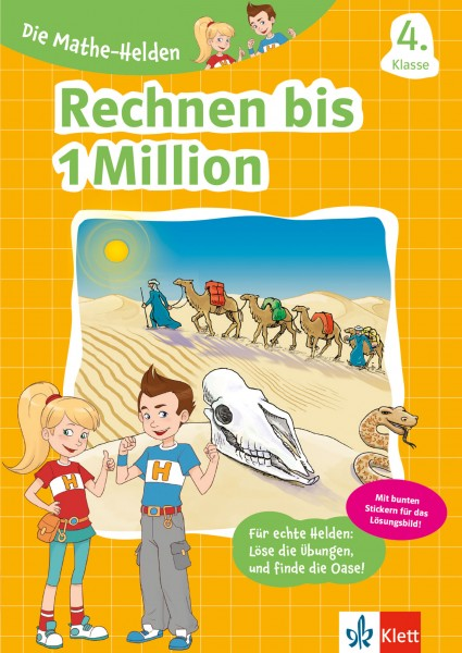 Klett Die Mathe-Helden Rechnen bis 1 Million, 4. Klasse
