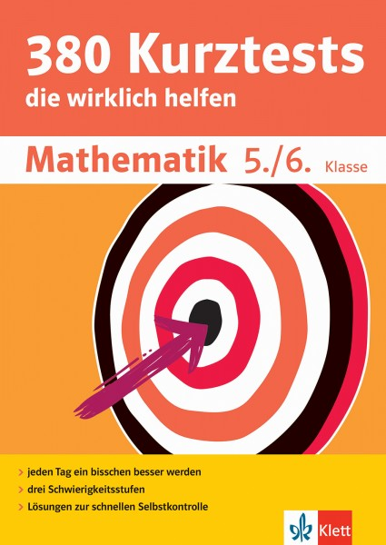 Klett 380 Kurztests Mathematik 5./6. Klasse