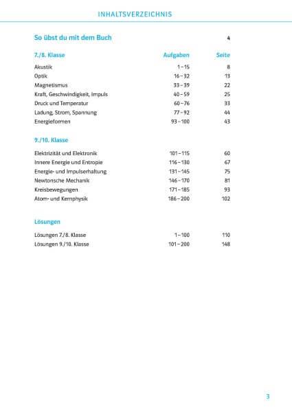 Klett 200 Physikübungen wie in der Schule Klasse 7 - 10