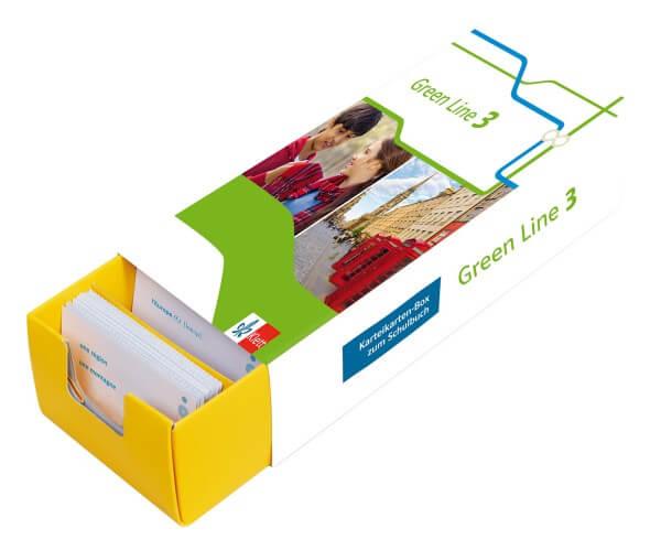 Klett Green Line 3 G8 Klasse 7 - Vokabel-Lernbox zum Schulbuch