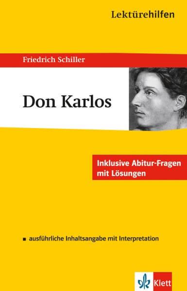 Klett Lektürehilfen Friedrich Schiller, Don Karlos