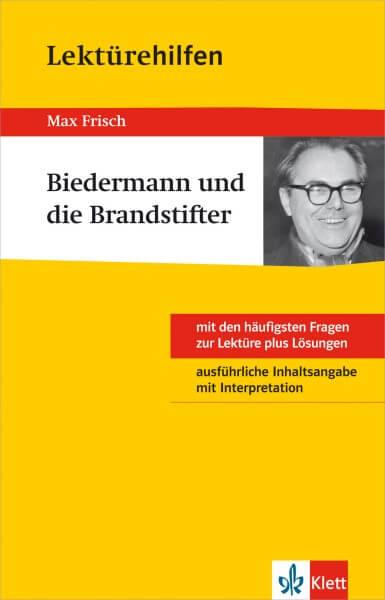 Klett Lektürehilfen Max Frisch, Biedermann und die Brandstifter