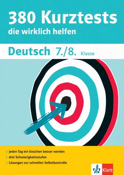Klett 380 Kurztests Deutsch 7./8. Klasse