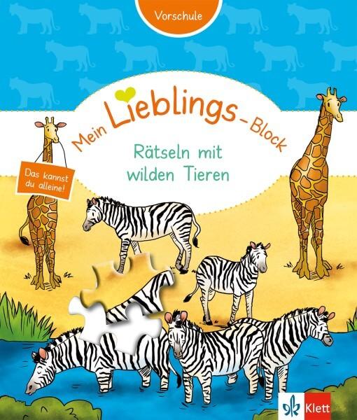 Klett Mein Lieblings-Block Rätseln mit wilden Tieren