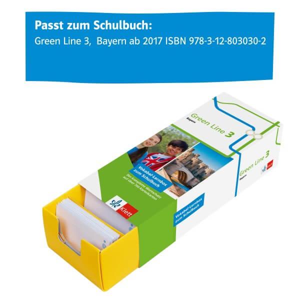 Klett Green Line 3 Bayern Klasse 7 Vokabel-Lernbox zum Schulbuch