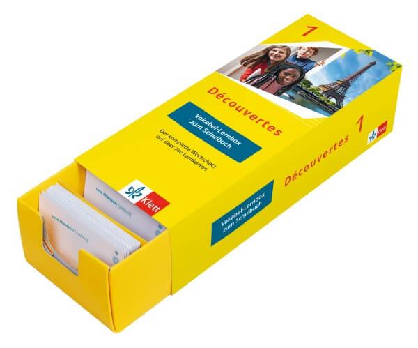 Découvertes 1 (ab 2020) - Vokabel-Lernbox zum Schulbuch 1. Lernjahr