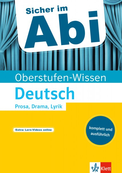 Klett Sicher im Abi Oberstufen-Wissen Deutsch - Prosa, Drama, Lyrik