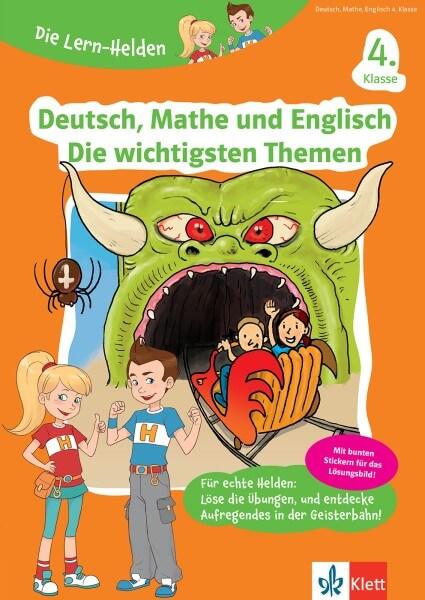 Klett Die Lern-Helden Deutsch, Mathe und Englisch Die wichtigsten Themen 4. Klasse