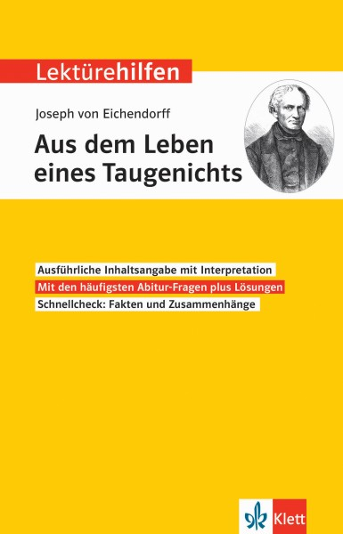 Klett Lektürehilfen Joseph von Eichendorff, Aus dem Leben eines Taugenichts