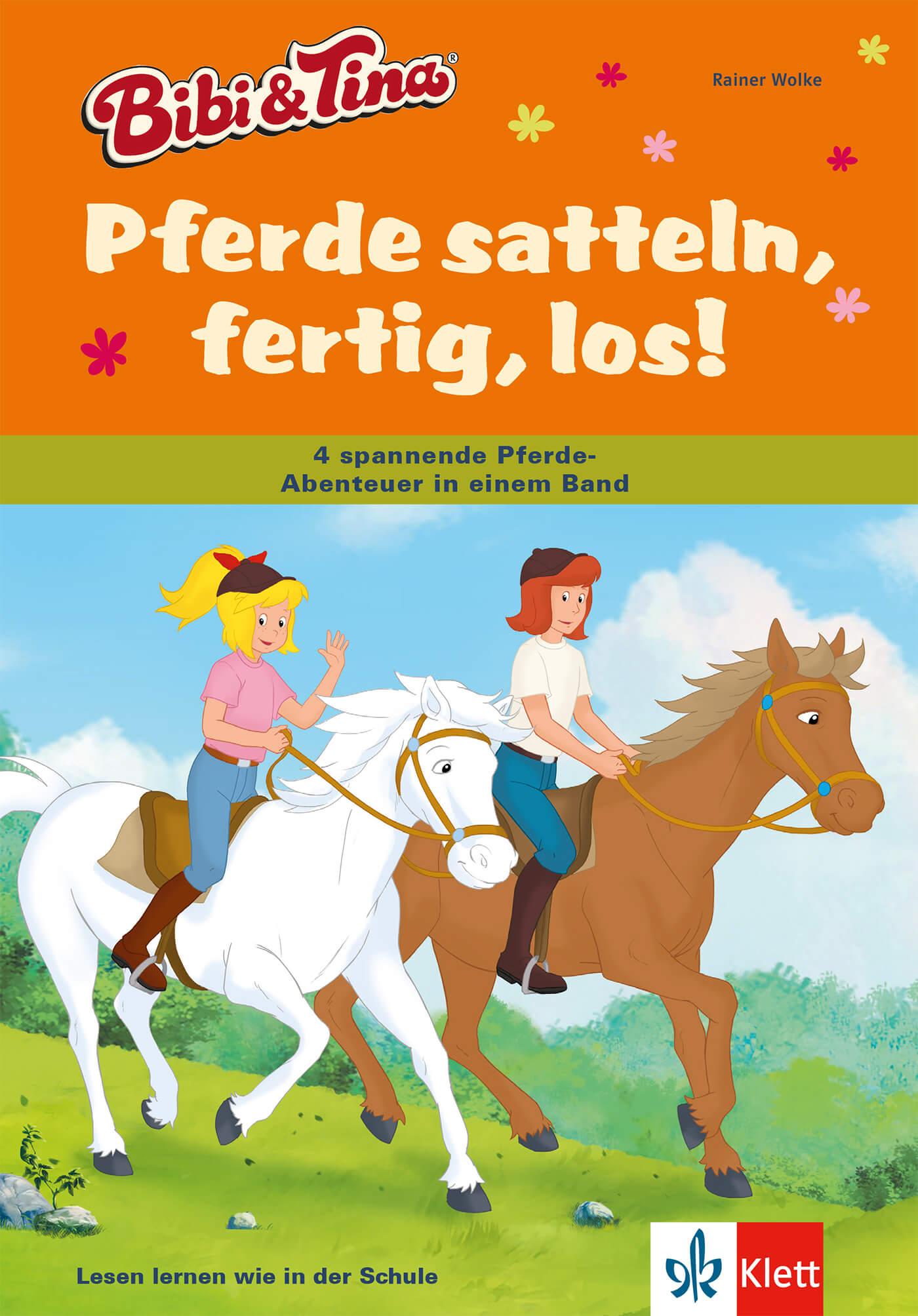 bibi und tina pferde satteln fertig los  grundschule