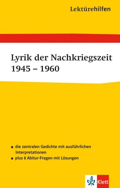 Klett Lektürehilfen Lyrik der Nachkriegszeit 1945 - 1960