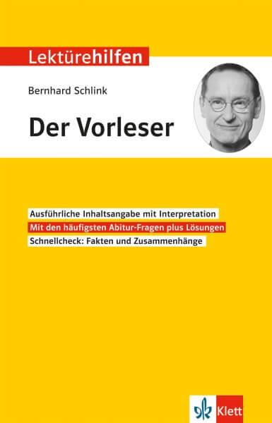 Klett Lektürehilfen Bernhard Schlink, Der Vorleser