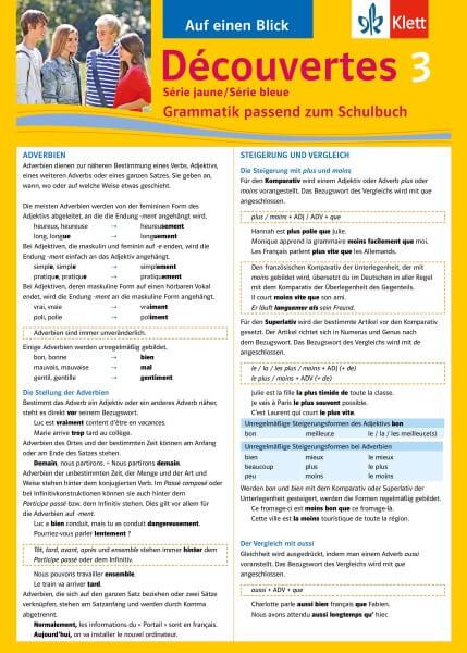 Découvertes Série jaune / Série bleue 3 - Auf einen Blick
