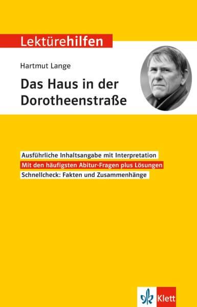 Klett Lektürehilfen Lange, Das Haus in der Dorotheenstraße