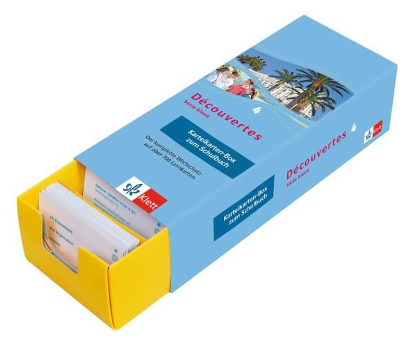 Découvertes Série Bleue 4 - Vokabel-Lernbox zum Schulbuch