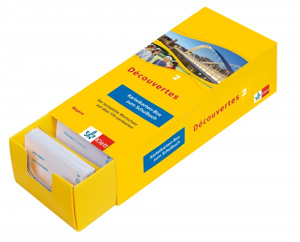 Découvertes 2 Bayern (ab 2017) - Vokabel-Lernbox zum Schulbuch