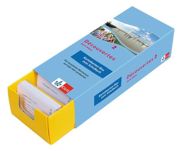 Découvertes Série Bleue 2 - Vokabel-Lernbox zum Schulbuch