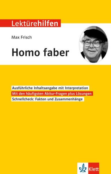 Klett Lektürehilfen Max Frisch, Homo faber