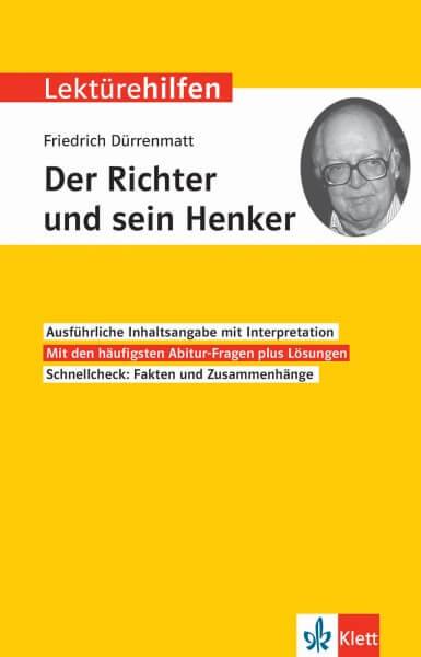 Klett Lektürehilfen Friedrich Dürrenmatt, Der Richter und sein Henker