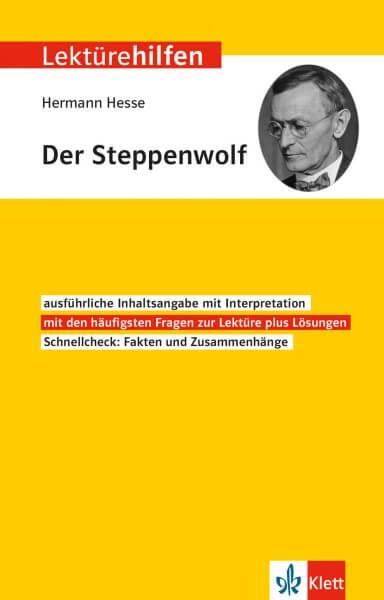 Klett Lektürehilfen Hermann Hesse, Der Steppenwolf
