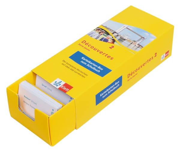 Découvertes 2 Série jaune - Vokabel-Lernbox zum Schülerbuch