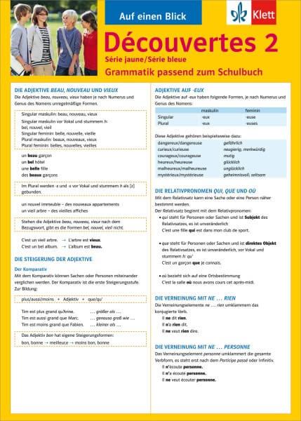 Découvertes Série jaune / Série bleue 2 - Auf einen Blick