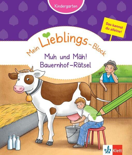 Klett Mein Lieblings-Block Muh und Mäh! Bauernhof-Rätsel