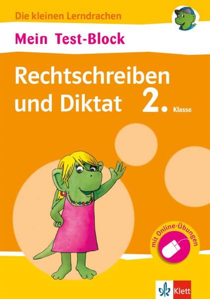 Klett Mein Test-Block Rechtschreiben und Diktat 2. Klasse