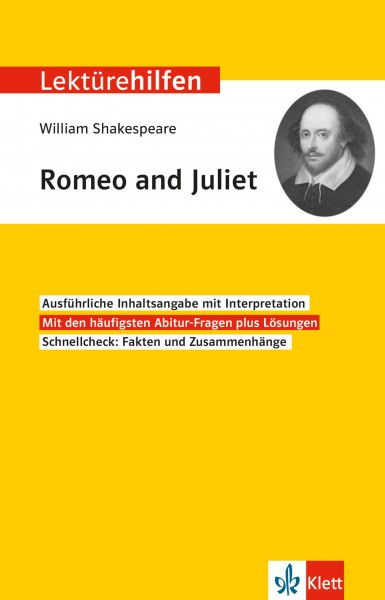 Klett Lektürehilfen William Shakespeare, Romeo und Juliet
