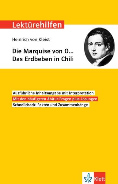 Klett Lektürehilfen Heinrich von Kleist, Die Marquise von O… Das Erdbeben in Chili