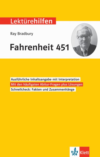 Klett Lektürehilfen Ray Bradbury, Fahrenheit 451